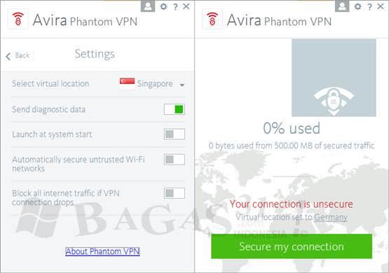 Avira Phantom VPN Pro 2.2.1 இலவசமாக