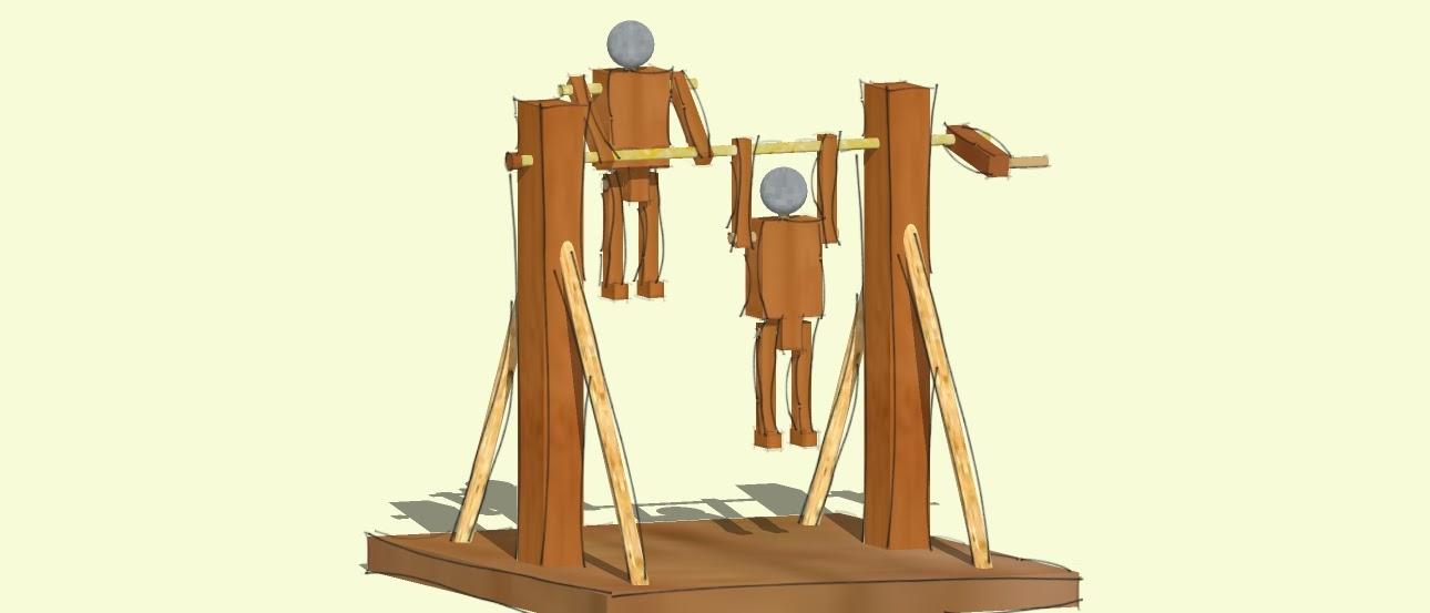 Juguete de madera: Taruguines Acróbatas