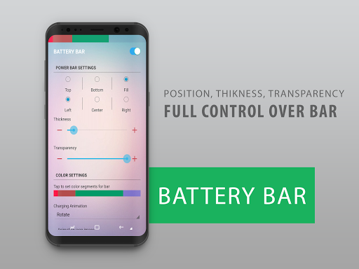 Battery Bar Energy Bars on Status bar