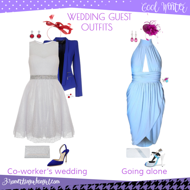 Wedding guest outfit ideas for Cool Winter women by 30somethingurbangirl.com // Are you invited to a your co-worker's wedding or maybe going solo to a wedding? Find pretty outfit ideas and look glamorous!