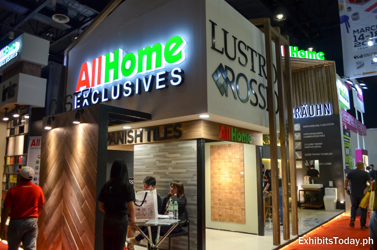 AllHome Exclusives trade show display