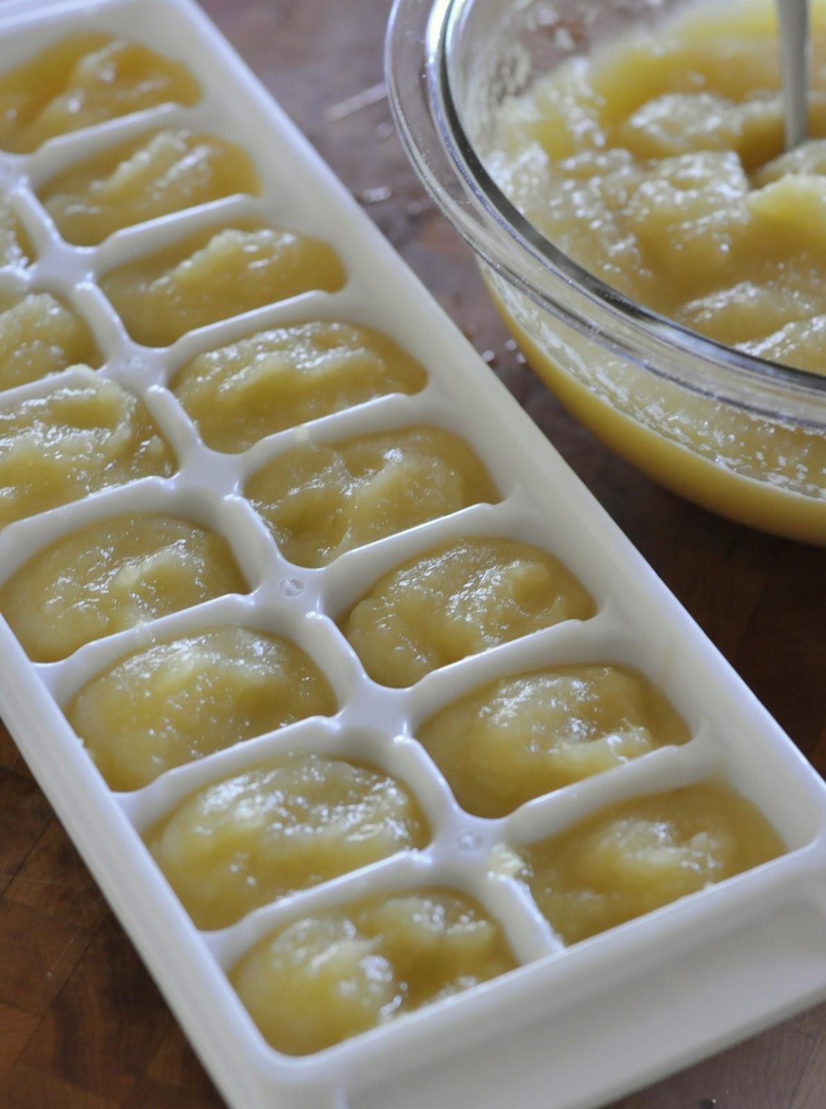 Freezing Homemade Baby Applesauce | Taste As You Go