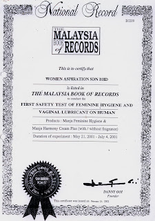 Dulu Manja Sekarang Rindu: Malaysia Book Of Records