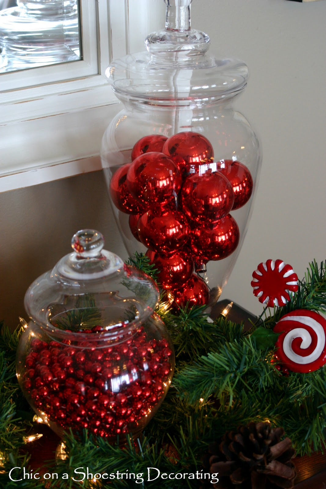 Simple Christmas Decorating Ideas: Chic On A Shoestring Decorating: My Not-so-simple