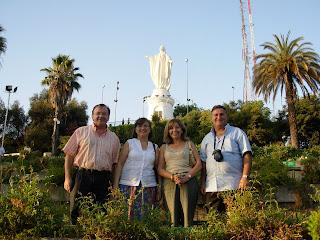 Cerro de San Cristóbal, Parque Metropolitano, Santiago de Chile, Chile, vuelta al mundo, round the world, La vuelta al mundo de Asun y Ricardo