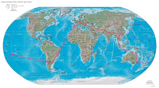 Mapa vuelta al mundo, round the world, La vuelta al mundo de Asun y Ricardo