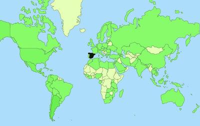 mapa de visitas, visitas blog mundoporlibre.com, vuelta al mundo, round the world, La vuelta al mundo de Asun y Ricardo