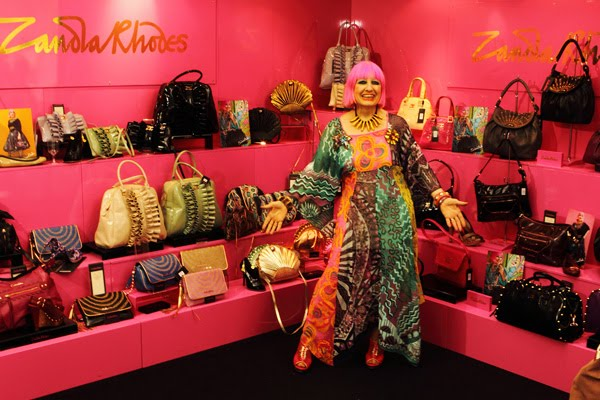 Legendary Fashion Designer Zandra Rhodes Was At Pure London For The Launch Of Her Spring Summer 2017 Handbag And Shoes Collections We Caught Up With