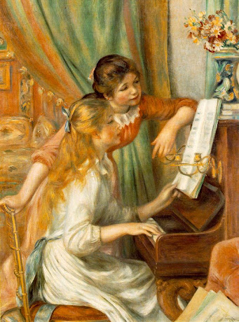 Girls At The Piano (Impressionism) - Renoir