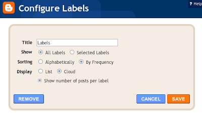 Blogger - Label Tag Cloud