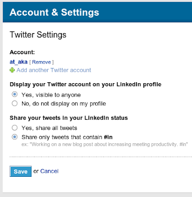 LinkedIn - Settings