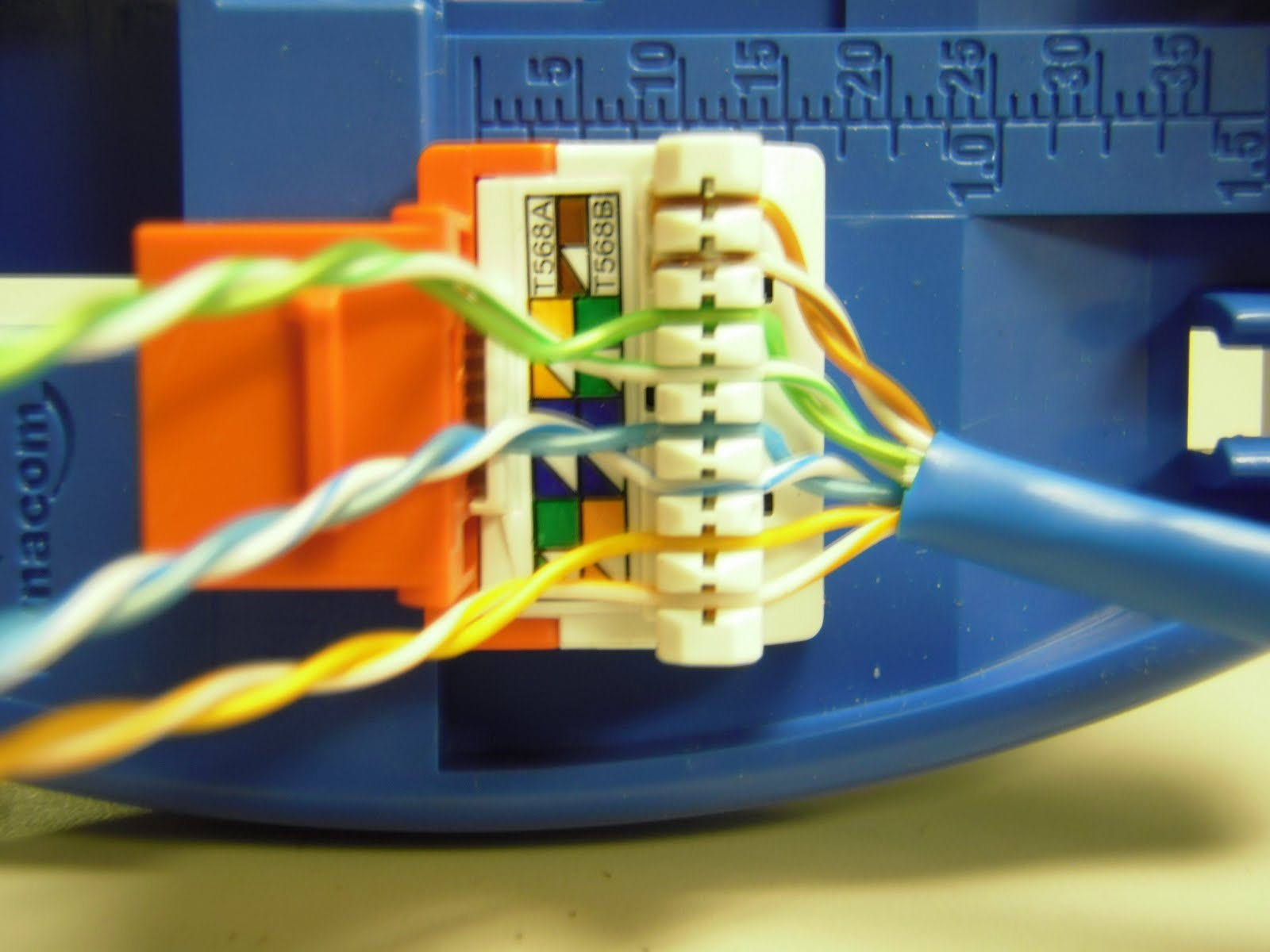 The Trench How To Punch Down Cat5e Cat6 Keystone Jacks Rj45 Color Code Along With Cat 5 Cable Pinout Wiring Together