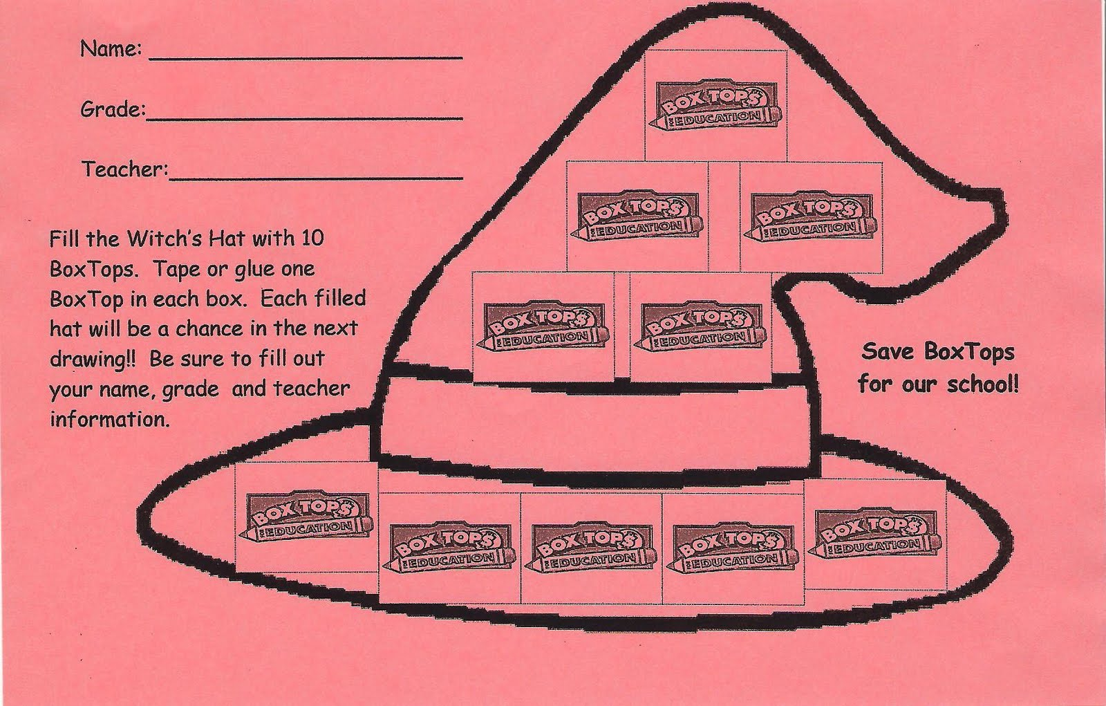 Cle Pta Box Tops Competition