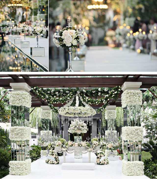 Trendee Flowers Designs: White Glamour Wedding Inspiration