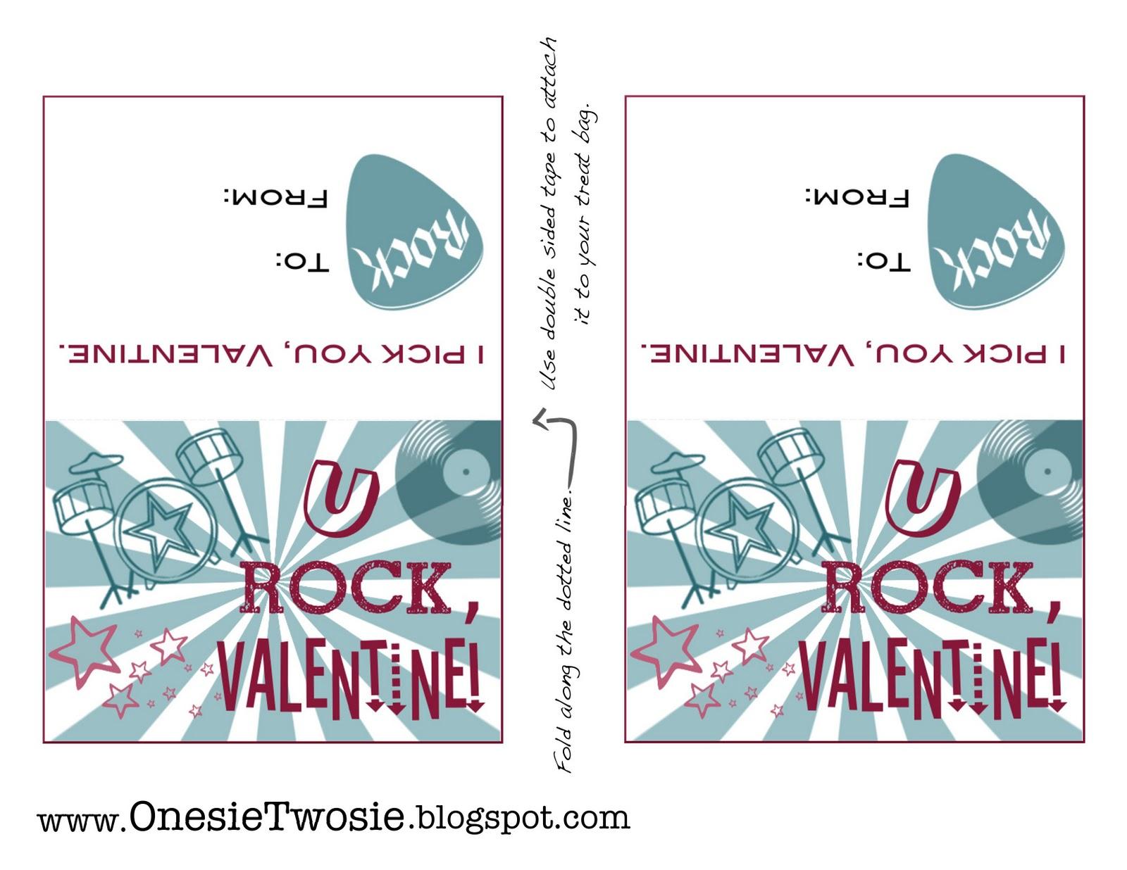 Onesie Twosie Free Valentine Card Printable