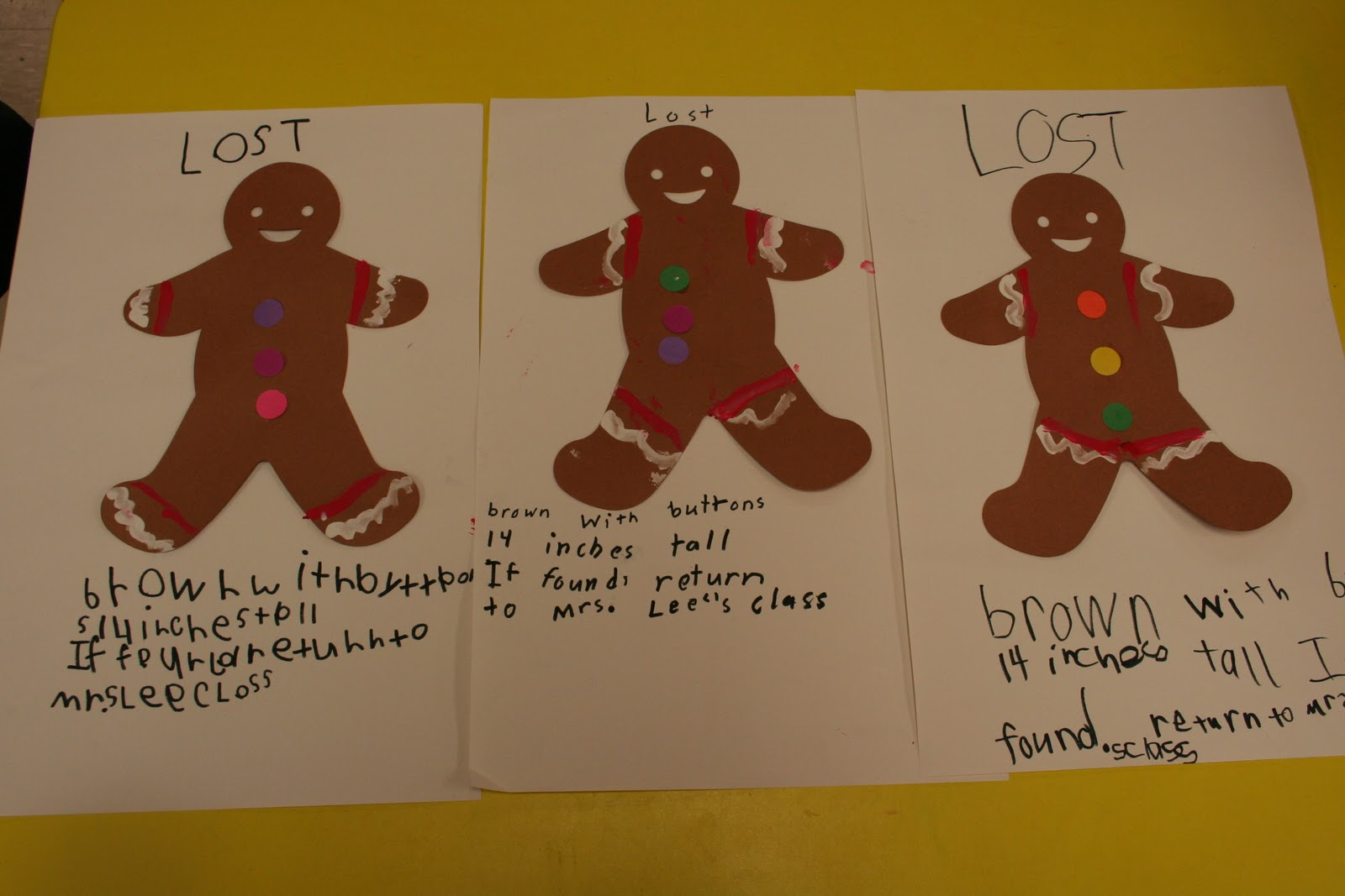Mrs Lee S Kindergarten We Found Our Gingerbread Man