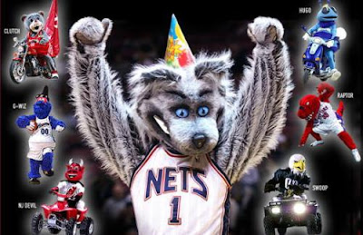 online store 10578 11887 NBA Basketball Mascots: New Jersey Nets Sly the Silver Fox ...