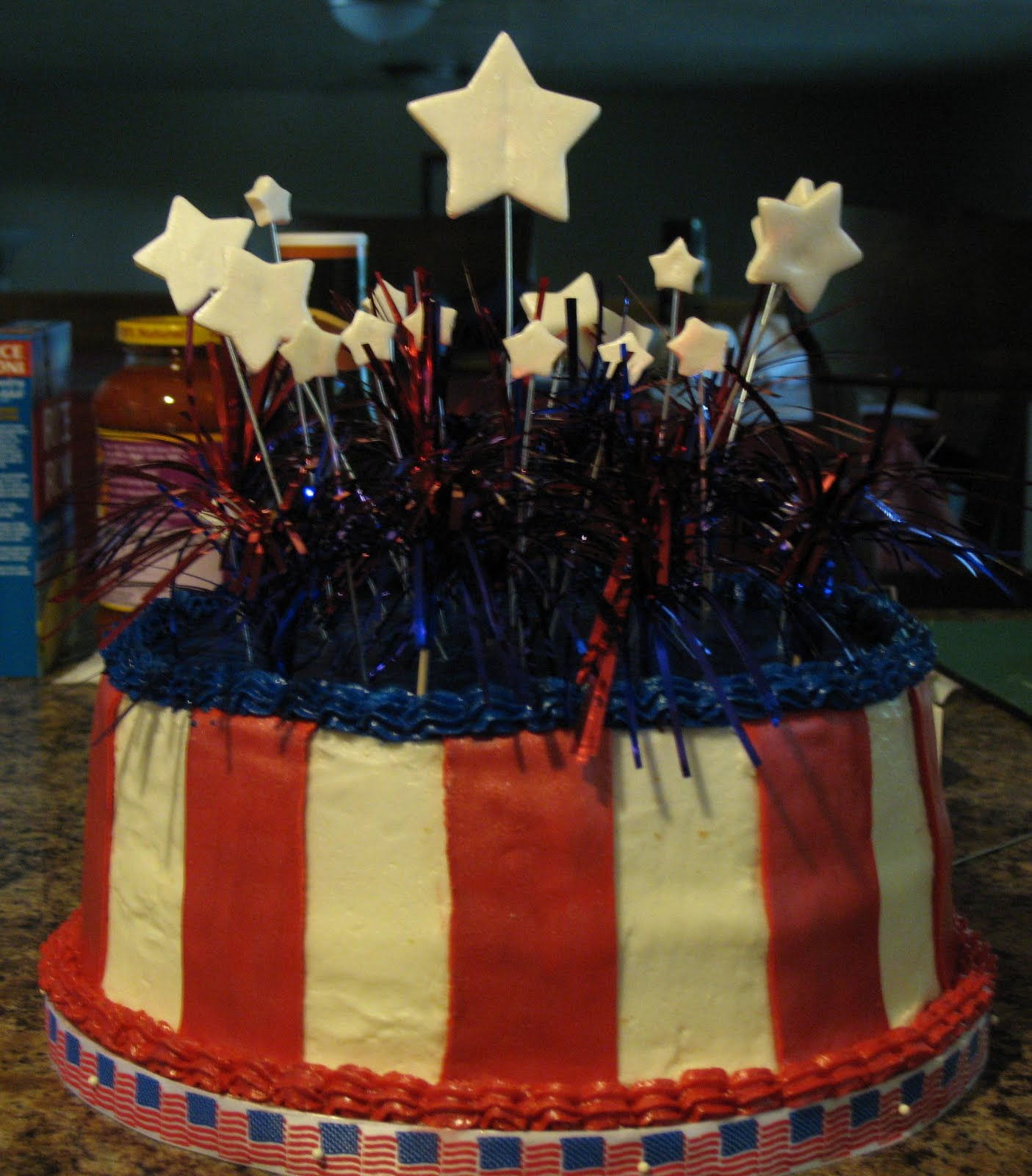 J's Cakes: 4th Of July Birthday Cake