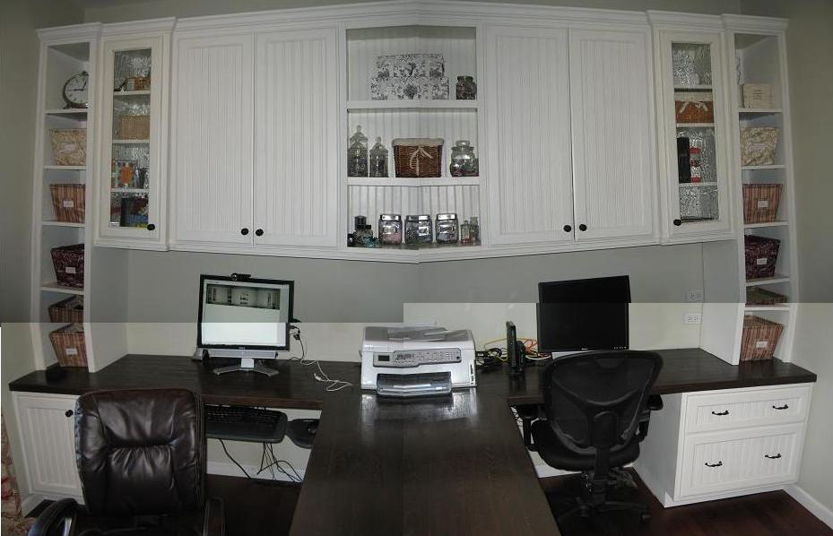 Beautiful Custom Built In Home Office