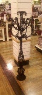 The other day we went to Home Goods and saw two sparkly Halloween  candelabras.