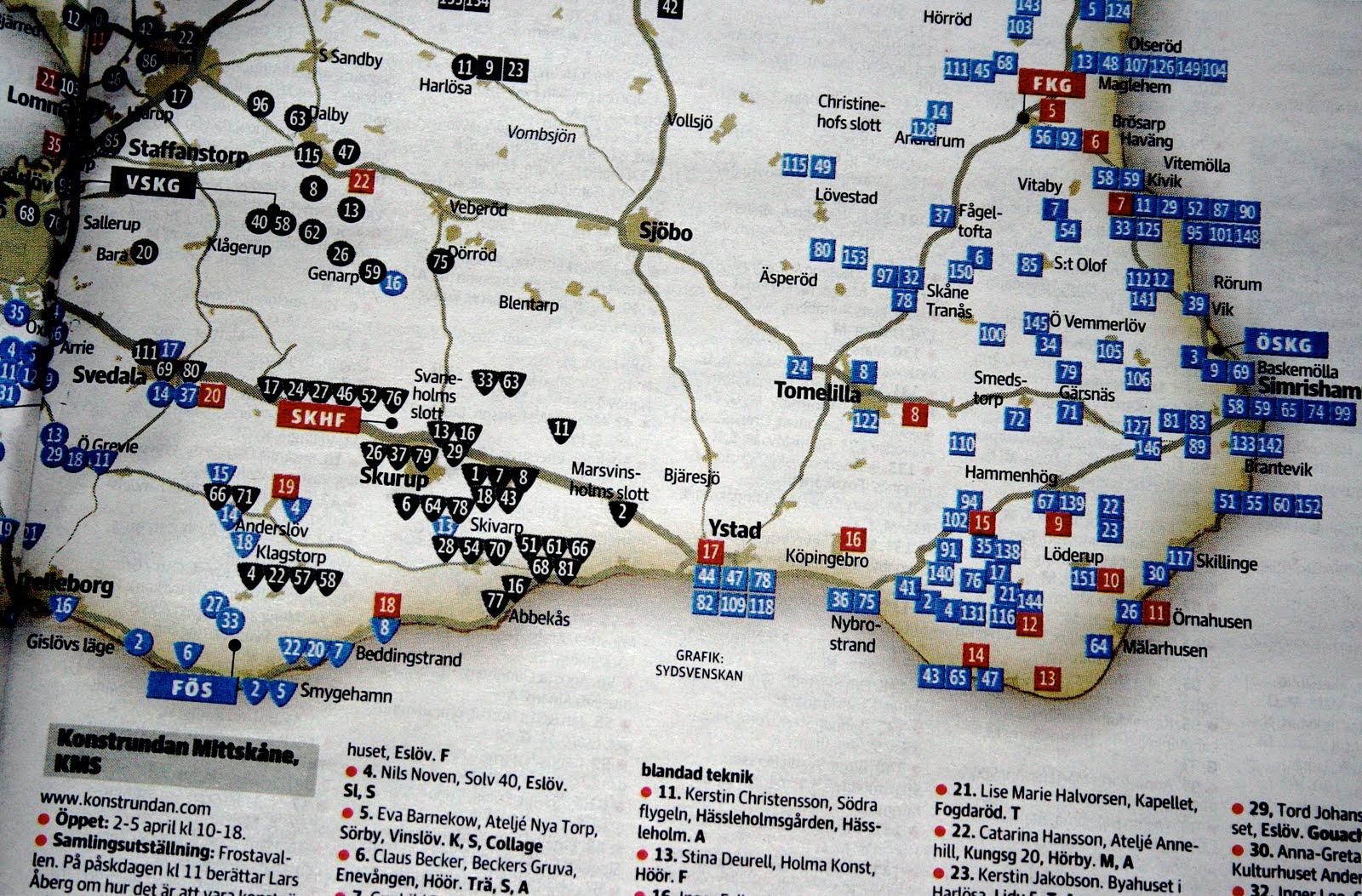 konstrundan österlen karta EMMIXAD konstrundan österlen karta