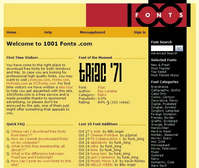 Links Pile Up: 40+ Websites To Get Or Download Fonts - Ahmad Hania Blog
