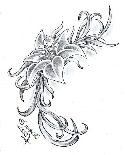 Татуировки Фото Каталог: Dizain za tatuirovka cvete