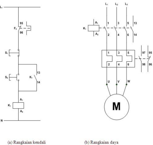 Rangkaian Star-Delta pada motor listrik 3 phasa