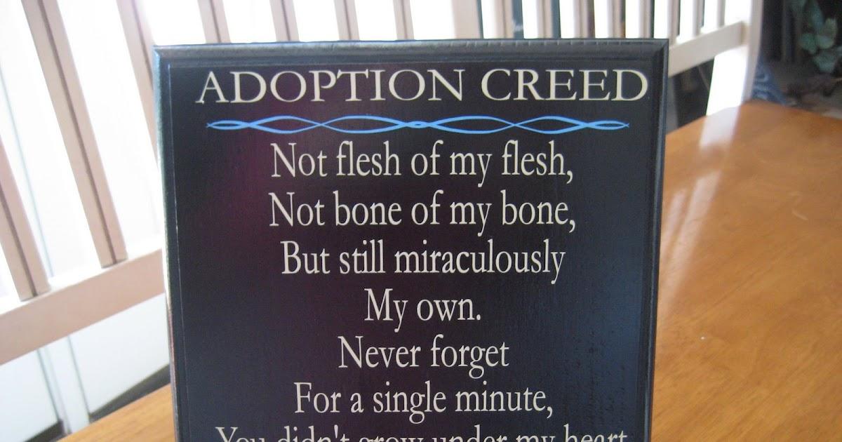Endless Possibilities: Adoption Creed Custom Quote Plaque