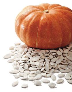 abóbora e sementes de abóbora - foto