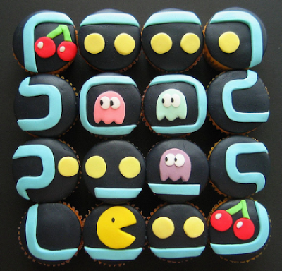 Cupcakes decorados Pac Man