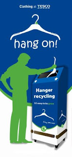 Tesco Hanger Recycling Poster