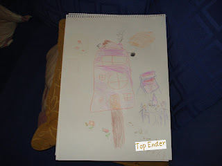 Drawing of a house that Top Ender drew for her Great Granny