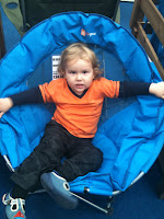Baby Boy in Blue Chair