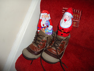 Sinterklass leaves treats in our shoes