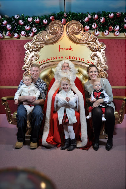 Family Photo with Harrods Santa 2010