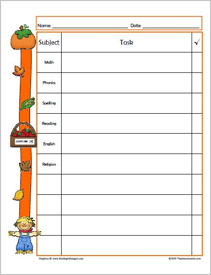 daily homework assignment sheet template - Intoanysearch - daily assignment sheet