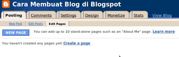 Cara Membuat Post Baru di blogspot - Panduan Cara Membuat Blog