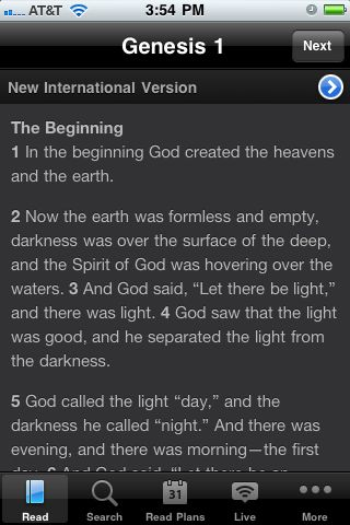 Outside the Rat Race: iPhone Bible App