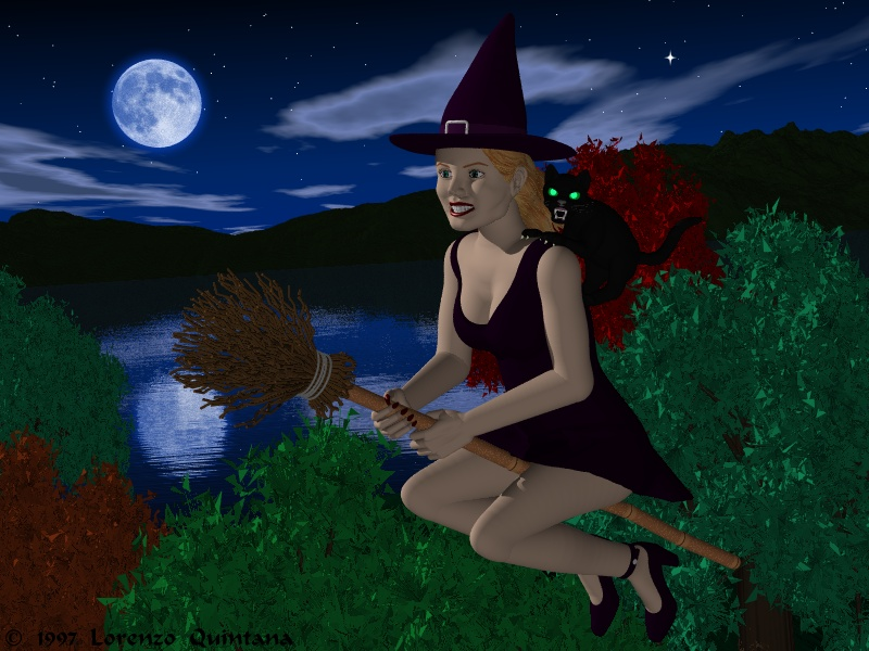 animated halloween wallpaper witches - photo #36