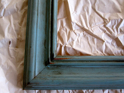 antiquing a frame