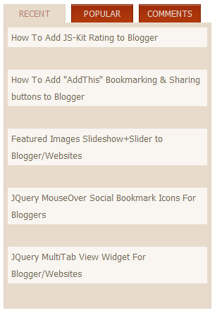 JQuery Multitab Widget For Blogger