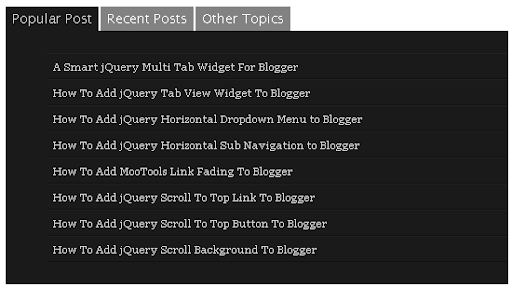 Smart Multi Tab View Widget to Blogger/Websites
