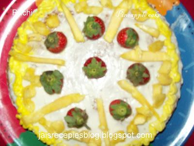 Pineapple Microwave Cake