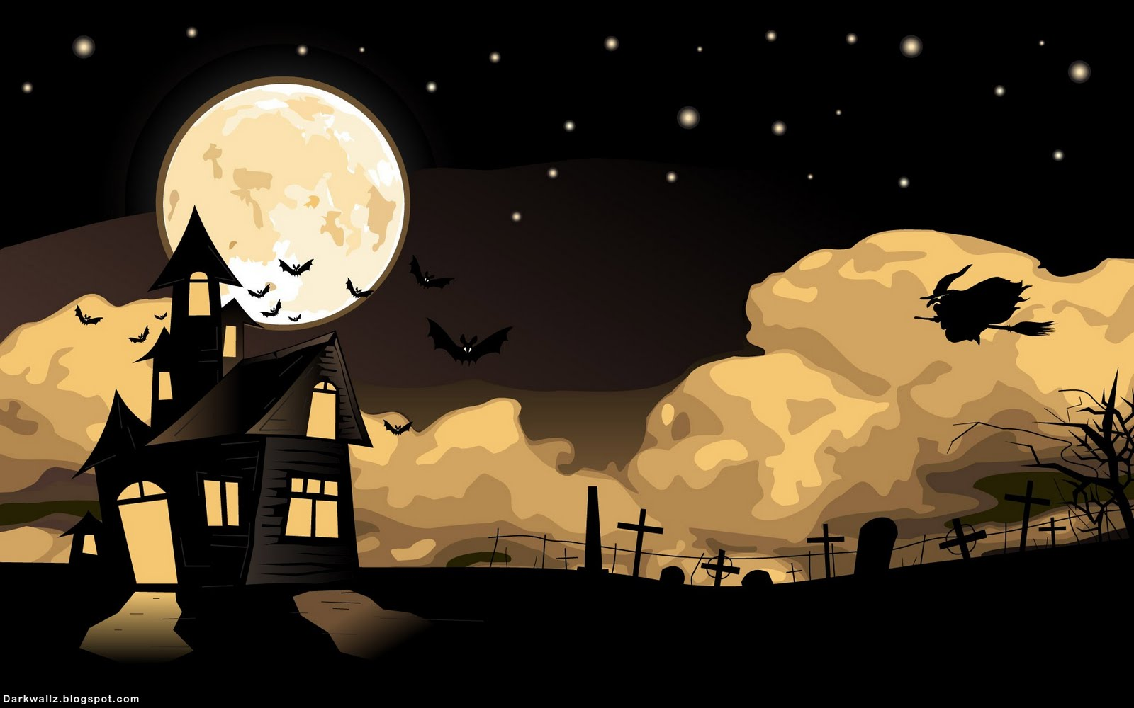 animated halloween wallpaper witches - photo #1
