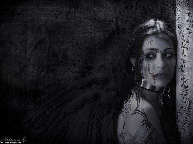 Gothic Dark Fallen Angel Art
