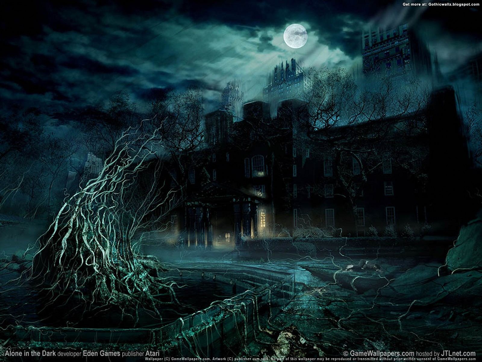 Occult Wallpapers Hd Wallpaper Alone In The Dark Dark Gothic Wallpapers