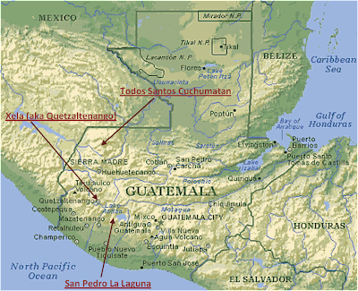 Guatemala Karte.Guatemala Bergen Karte