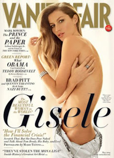 Gisele Bundchen Dressless At Vanity Fair