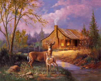 Thomas Kinkade Fall Wallpaper Pictures For Everyone No Trash Deer Scenes
